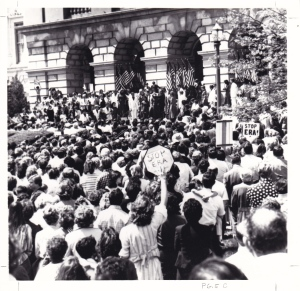 PS and Jerry Falwell with 12 000 at Illinois State Capitol on May 6 1980